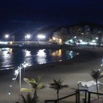 View by night of Las Canteras promenade, Las Palmas