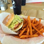 Turkey Burger with Sweet Potato Fries