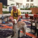 Me and Borzoi 'Lancie' enjoying our stay.
