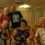 Ray, me, Jackie, Carol and Dave last ones in the bar again!