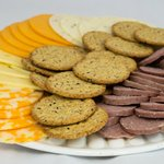 Meat, Crackers, and Cheese Platter