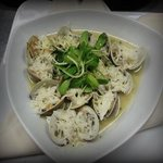 Roasted Clams tossed in Garlic Lemon Butter