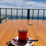 Rooftop terrace with Turkish tea