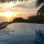 Sunset over the infinity pool