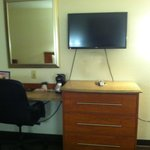 Desk and flat screen TV