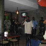 Kayamba Africa playing on the terrace