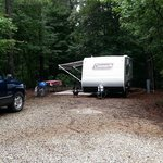 Camp sites are large for a private rv park!