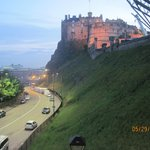 Edinburgh Castle from the apartment