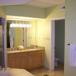 HUGE master bath with separate toilet and shower area.