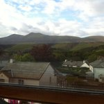 View of skiddaw from attic room