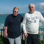 me and dad near beach