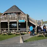 Family & friends arrive for our evening buffet at Godrevy Beach Cafe