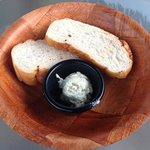 bread with house made herb butter...yum