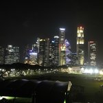 view across Padang from the Singapore Recreation Club