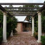 portico entry to garden retreat accommodation