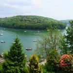 The superb view out over the River Fowey – always changing ...