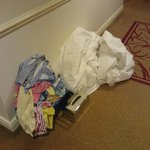 Laundry in corridor at 1730