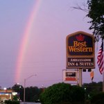 Beautiful rainbow seen at our hotel last night.