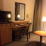 Room 105 desk and mini bar