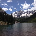 One of the spectacular views from te Maroon Bells mountain bike tour.