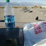 Having lunch at Stovepipe Wells Village