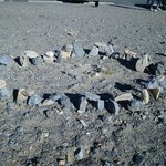 Mini Stonehenge at Stovepipe Wells Village