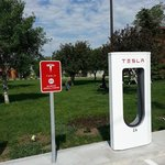 They even have charging stations for electric hybrid cars!
