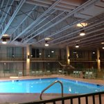 Indoor outdoor pool and big open area