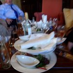 Our stay all the plates and glasses building up all day and very poor service for our private di