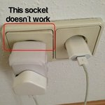 Faulty plug socket