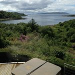 View from our bedroom overlooking Lunga Bay & Jura