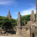 View towards St Magnus Cathedral from Earl's Palace