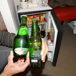 Minibar: fungae, in the background bottles that expired the consumprion limit. Cheers to Best We