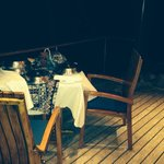 Dinner on our private deck