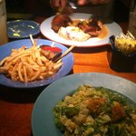 Chopped Salad, Fries & Half Roasted Chicken