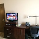 Small tv and writing desk