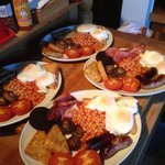 2 vegi full and 2 full English weekend breakfast