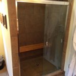 The spa shower in the Gardeners Room