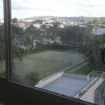 View from room Tennis court and hills