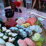 Sushi for Two with Red Blossom Martini
