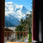 The view of the Mont Blanc from the balcony.