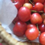 fresh cherries with breakfast
