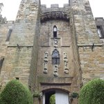 Imposing facade of Lumley Castle