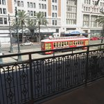 2nd Floor Balcony View of Canal Street Streetcar