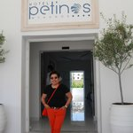 taken in front of Petinos Beach Hotel, Mykonos Greece on 6/4/14.