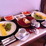 Our breakfast, simple but nice