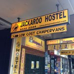 Jackaroo Hostel entrance