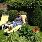 Relaxing in the garden