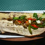 whitefish on a board, CLEARBROOK C.C. nearby...