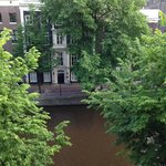 View from my room on the 2nd floor -Herengracht Canal